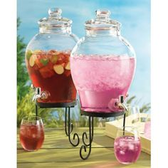 Home Essentials Del Sol 1.2 gal. Bell Shape Dispenser with Stand $24.99 to hold my fabric softner so I do not have ugly bottles out!!!