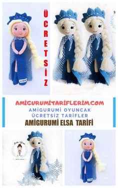 crochet toys and dolls Amigurumi Prenses Elsa Yapm - Amigurumi Tariflerim Crochet Doll Pattern, Crochet Dolls, Toddler Toys, Baby Toys, Handmade Wooden Toys, Baby Dinosaurs, Presents For Girls, Diy Gift Box, Diy Crafts For Gifts