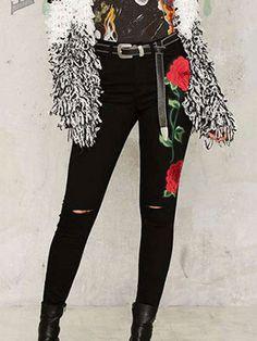 Do you think I should buy it? Cute Fall Outfits, Chic Outfits, Fashion Outfits, Fashion Wear, Summer Outfits, Womens Fashion, High Waisted Denim Jeans, High Waist Jeans, Jean Rose