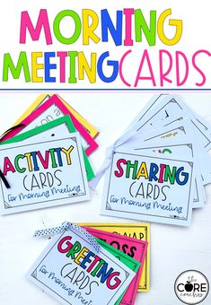 Cards to help plan a perfect morning meeting. Your students will love these!