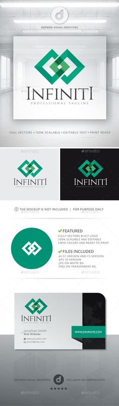 Infiniti  Logo Design Template Vector #logotype Download it here: http://graphicriver.net/item/infiniti-logo/13155891?s_rank=475?ref=nexion