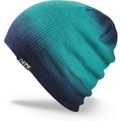 Dakine Faded Slouchy Beanie Teal ($25) ❤ liked on Polyvore featuring accessories, hats, beanies, headwear, beanie hats, slouchy beanie, beanie cap hat, saggy beanie and slouch beanie hats