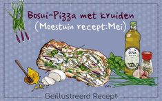 Bosui pizza: moestuin recept mei van irms