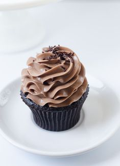nutella bomb cupcakes with swiss buttercream frosting