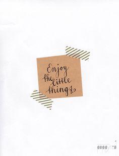 PoppyRed || #little #things #enjoy #handlettering #blog #sundaylovesletters #quote www.poppy-red.nl