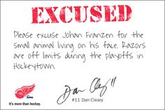 Try our 2012 Stanley Cup Playoff 'Excuse-O-Matic' at www.redwingsexcuses.com