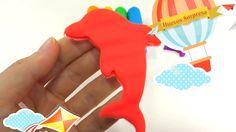 Aprenda Colores Play Doh Animal Dolphin Espuma Huevos con sorpresa Dedo ...