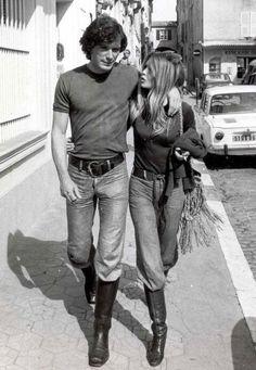 Brigitte Bardot with her boyfriend Christian Kalt, 1971