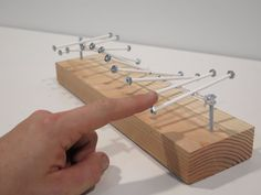 Mini Wave Model : 5 Steps (with Pictures) - Instructables Physics Tricks, Physics Projects, Woodworking Crafts, Woodworking Plans, Projects For Kids, Wood Projects, Bubble Wands, Simple Machines, Stem Activities
