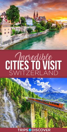 9 Incredible Cities to Visit in Switzerland. With a location in the Alps mountain range and an impressive railroad that runs through it, the country of Switzerland is in no short supply of beautiful scenery. This is a wonderful place to visit. Switzerland Travel Guide, Switzerland Itinerary, Places In Switzerland, Switzerland Vacation, Visit Switzerland, Switzerland Summer, Lucerne Switzerland, Beautiful Places To Visit, Wonderful Places