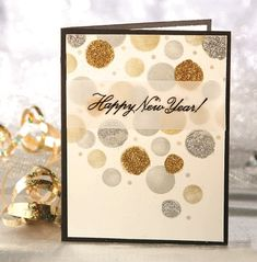 confetti drop new years card from the winter 2013 issue of cardmaker magazine