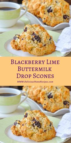 These Blackberry Lime Buttermilk Drop Scones are quick & easy to make in only about a half hour. Brunch guests will think you were up at the crack of dawn! Drop scones are rustic yet someho… Drop Scones Recipes, Breakfast Recipes, Scone Recipes, Pizza Recipes, Breakfast Ideas, Blackberry Scones, Blackberry Dessert, Easy Soup Recipes, Appetizer Recipes
