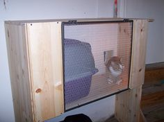 Kitty Hut with Litter Box Contained in Garage | Flickr - Photo Sharing!