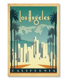 Loving this 'Los Angeles' Wall Art on #zulily! #zulilyfinds