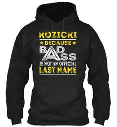 KOZICKI - Badass Name Shirts #Kozicki