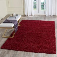 Athens Shag Red 8 ft. x 10 ft. Area Rug