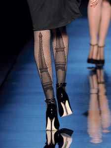 FISHNET TIGHTS, Parisiennes collection, Haute couture fall/winter 2010 - 2011. GAULTIER