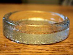 "Vintage Glass ""Riite"" Ashtray by Timo Sarpaneva for Iittala"