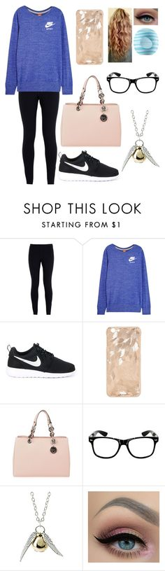 """To the world you may be one person; but to one person you may be the world."" by blessed-with-beauty-and-rage ❤ liked on Polyvore featuring NIKE, MICHAEL Michael Kors and Eos"