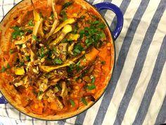 Sicilian butternut squash and chickpea stew