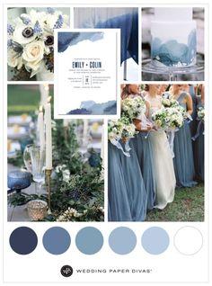 Blue Watercolor Wedding Theme