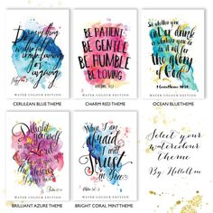 Quotes  Custom quote print  quote prints  Custom bible by HelloAm