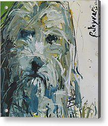 Fine Art Dog Print Acrylic Print by Robert Joyner