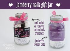 Jamberry Nails Gift Jar #teacherappreciation #mothersday Get your GC here: http://jessbranston.jamberrynails.net/home/GiftCertificate.aspx