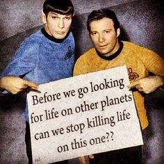 The truth! #nonviolence #peace #love #joy #happiness #faith #family #startrek #spock #kirk #communication #freedom #friends #humanity #god #godislove #FreeYourMind #gangs #wars