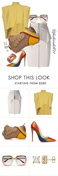 """""""Untitled #1409"""" by fashionkill21 ❤ liked on Polyvore featuring Murmur, Marni, Christian Dior, Christian Louboutin and Gucci"""