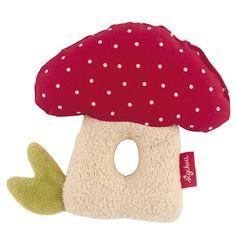 Organic Waldorf Mushroom Rattle