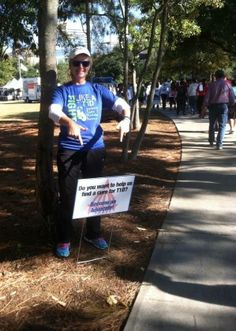 If your chapter has walk route signs, make sure you have some for advocacy!