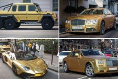 Stinkend rijke Saoedi neemt 4 gouden auto's mee op reis