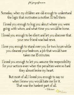 Children, I Love You...