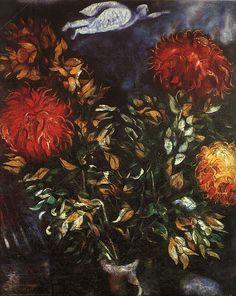 Chrysanthemums, 1926, Marc Chagall Medium: oil on canvas
