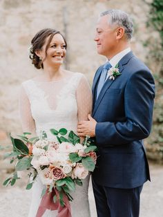 Photography: http://www.gianlucaadovasio.it/   Floral design: http://www.instagram.com/larosacaninafirenze/?hl=en   Wedding dress: http://moniquelhuillier.com   Venue: http://monteverdituscany.com/   Read More: https://www.stylemepretty.com/2018/01/15/romantic-tuscan-wedding/