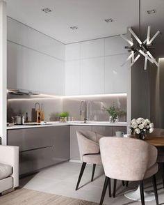 modern kitchen interior Modern Kitchen Cabinets Ideas to Get More Inspiration Dish Modern Kitchen Interiors, Modern Kitchen Cabinets, Kitchen Cabinet Design, Modern Kitchen Design, Interior Design Kitchen, Modern Interior Design, Modern Decor, Contemporary Interior, Kitchen Island