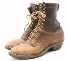 Vintage Hathorn Whites Packer Logger Yukon Hiking Boots 10