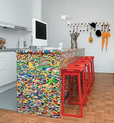 Lego Kitchen Island Bench. Funky, different, feature and very quirky...