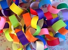 Paper chains - remember making these at Christmas.