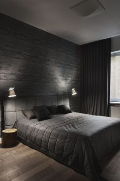 7 Top Cool Tips: Industrial Minimalist Bedroom Interior Design modern minimalist living room wood.Minimalist Bedroom Small Floors minimalist home design loft. Black Bedroom Decor, Home Decor Bedroom, Bedroom Bed, Warm Bedroom, Master Bedrooms, Bedroom Small, Black And Grey Bedroom, Grey Bedrooms, Bedroom Plants