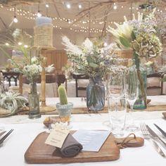 いいね!491件、コメント1件 ― wedding designerさん(@takigawa.tsg)のInstagramアカウント: 「*Light House* 披露宴会場のゲストテーブル。 キラキラとした天井装飾のライティング。 夏の海をイメージして...♡ -------------------…」