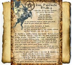 Magick Spells:  Iron Pentacle Protection #Spell, Digital Download Graphic Page.