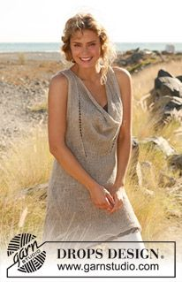 Draping front tunic from cotton yarn