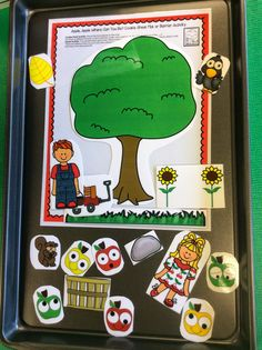 Speech Sprouts Therapy: Cookie Sheet Fun with Where? questions from Apple Apple Where Can You Be? $