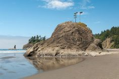 Watch out for vampires and werewolves when you visit the La Push beaches outside of Forks.