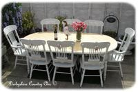 129.  Stunning PIne Extending Table with 8 Chairs