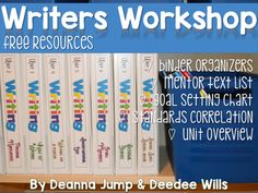 Writers workshop is an important part of literacy instruction.  This free file includes:Writers Workshop mentor text listWriters Workshop standards chartWriters Workshop organizational toolsWriters Workshop unit overviewWriters Workshop goal setting chart for student-led outcomesYou can find a full year's worth of writer's workshop lessons that are PERFECT for Kindergarten and First Grade by clicking below.Writing Writers Workshop :Writing Through the Year Bundle