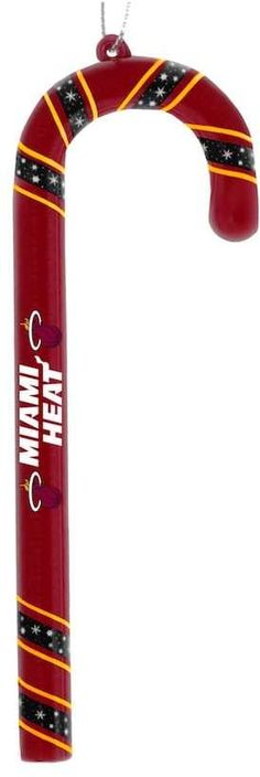 Forever Collectibles Miami Heat 6-Pack Candy Cane Ornaments