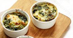 Recette de Œufs cocottes mozzarella et épinards. Facile et rapide à réaliser, goûteuse et diététique. Ingrédients, préparation et recettes associées.